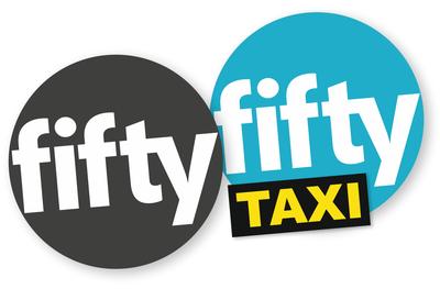 FiftyFifty Taxi Logo