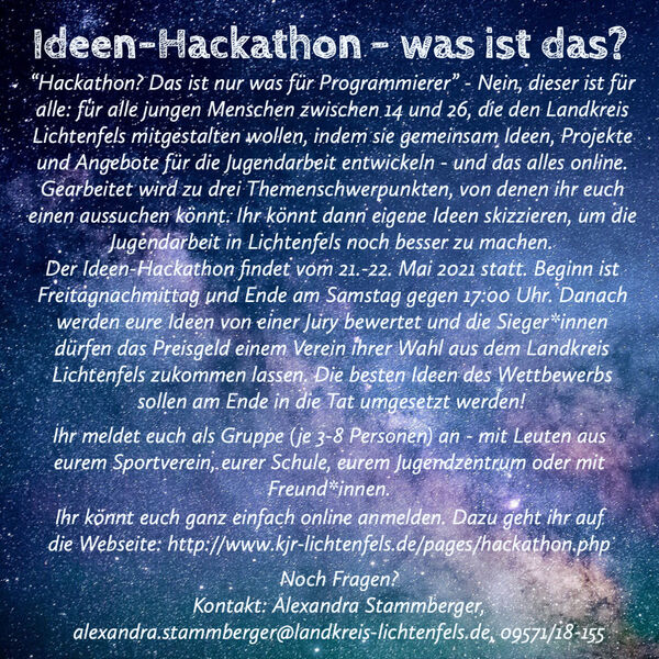 Flyer Ideen Hackathon