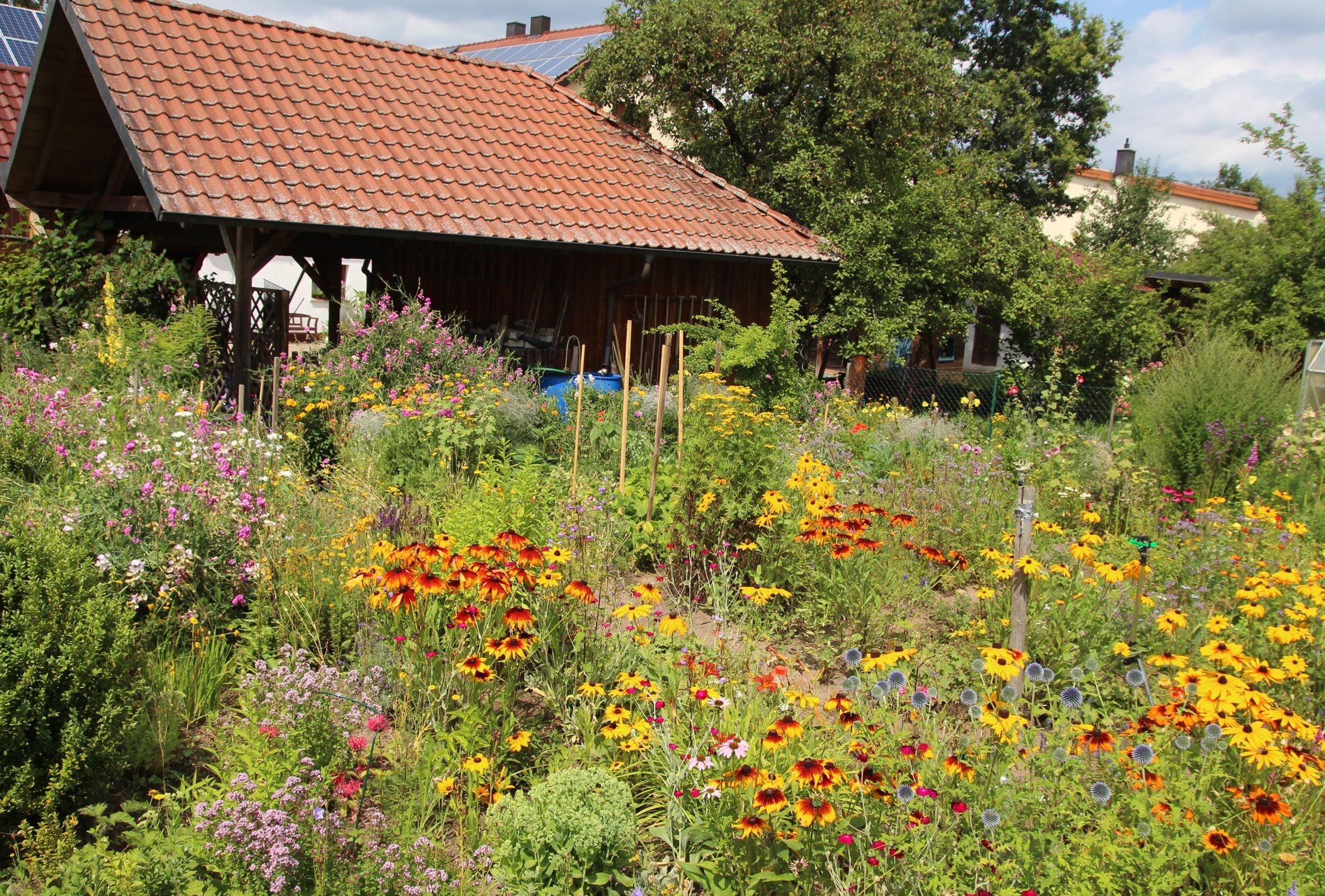 Blick über den Zaun: Bei den Gartenführungen können sich die Teilnehmer/innen viele Inspirationen holen. (Foto: privat)