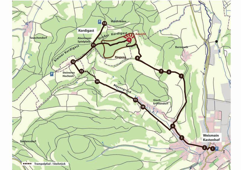 Naturlehrpfad Streckenplan INA4