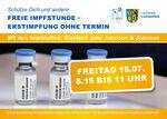 Miniaturbild zu:Pressemitteilung 240-2021: Freie Impfstunde - Erstimpfung ohne Termin am 16.07.2021