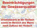Miniaturbild zu:Pressemitteilung 345-2021: Beeinträchtigungen der Gewässerqualität stromabwärts in der Rodach sowie im Bereich des Mains nach Zufluss der Rodach