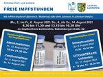 """Miniaturbild zu:Pressemitteilung 265-2021: Familienimpftage und """"Abendimpfen"""""""