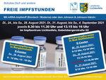 """Miniaturbild zu:Pressemitteilung 289-2021: """"Abendimpfen"""", Familien- und Schülerimpftage"""